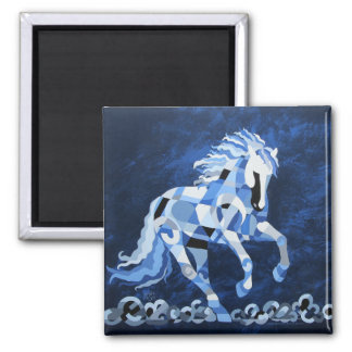 White Horse in the Moonlight Magnet