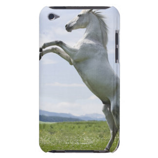 white horse jumping on meadow barely there iPod cover
