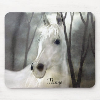 White Horse Mouse Mat