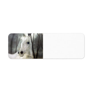 White Horse Return Address Label