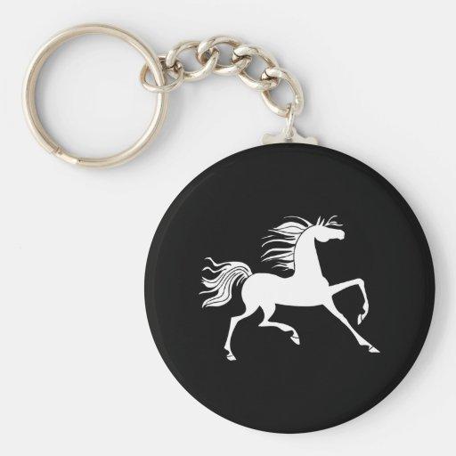 White Horse Silhouette Key Chain