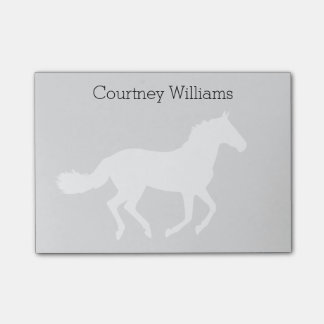 White Horse Silhouette with Name Post-it® Notes