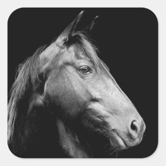 White Horse Square Sticker