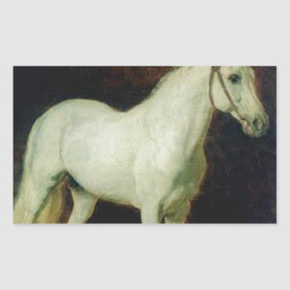 White horse. Study. by Alexander Ivanov Rectangular Sticker