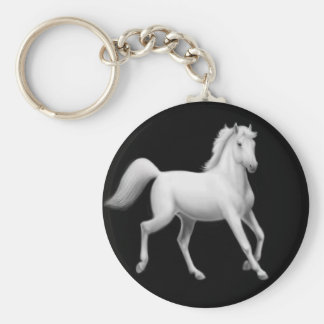 White Horse Trotting Keychain