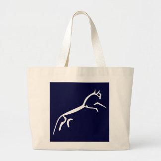 White Horse (Uffington Castle) Large Tote Bag