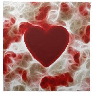 White Hot Red Heart Napkin
