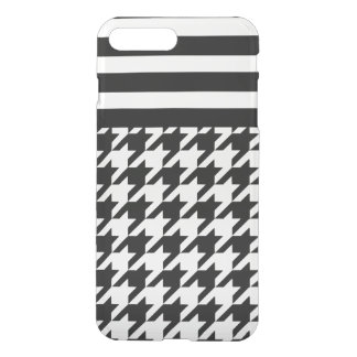White Houndstooth w/ Stripes 2 iPhone 7 Plus Case