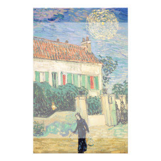 White House at Night by Vincent Van Gogh Full Color Flyer