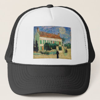 White house at night - Vincent van Gogh Trucker Hat