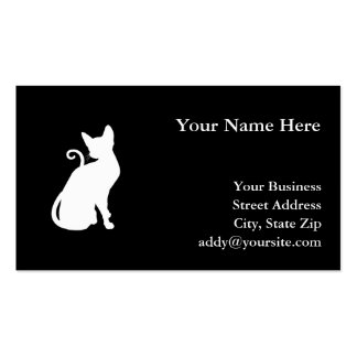 White House Cat Business Cards