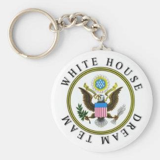 White House Dream Team Basic Round Button Key Ring