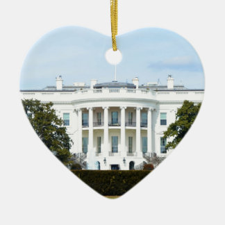 White House From The Lawn Ceramic Heart Decoration