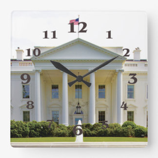 White House image for Square-Wall-Clock Square Wall Clock