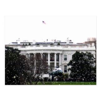 White House Marine One Postcard