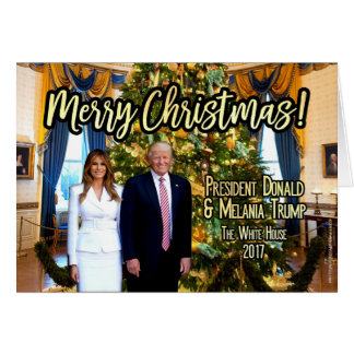White House Melania Donald Trump Christmas Card
