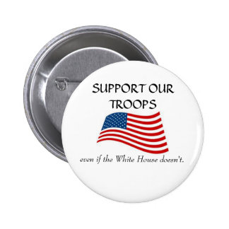 White House non support 6 Cm Round Badge