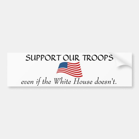 White House non Support Bumper Sticker
