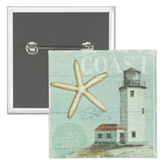 White House on the Beach 15 Cm Square Badge