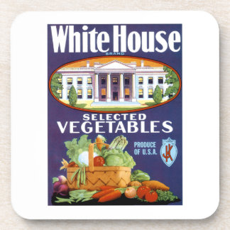 White House Selected Vegetables Drink Coasters