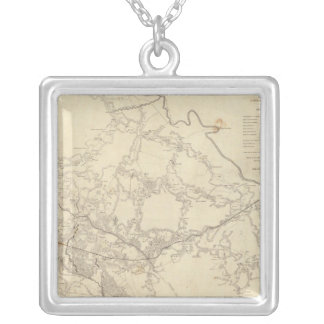 White House to Harrisons Landing Square Pendant Necklace