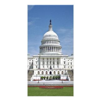 White House US Capitol Building Washington DC Personalised Photo Card