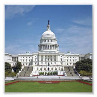 White House US Capitol Building Washington DC Photographic Print