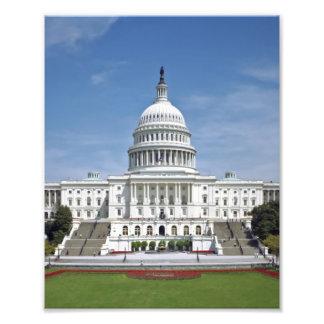 White House US Capitol Building Washington DC Photo Print