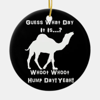 White Hump Day Camel Christmas Ornament