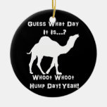 White Hump Day Camel Christmas Ornaments