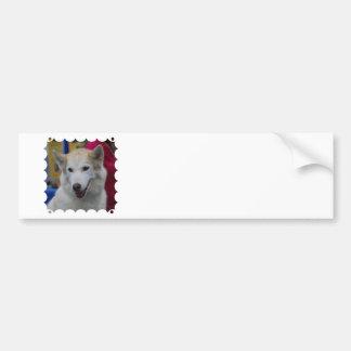 White Husky Bumper Sticker