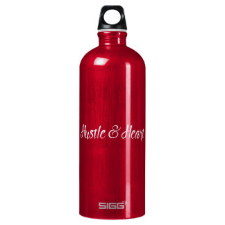 White Hustle and Heart Typography SIGG Traveller 1.0L Water Bottle