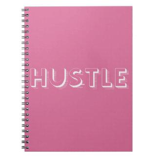 White Hustle Modern Typography Notebook
