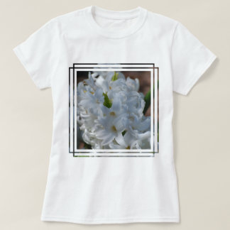 White Hyacinth Flowers T Shirt