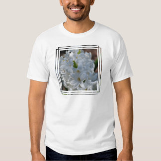 White Hyacinth Flowers T Shirts