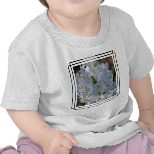 White Hyacinth Flowers T-shirts