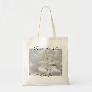 "White Hydrangea ""Bride-To-Be"" Tote bag"