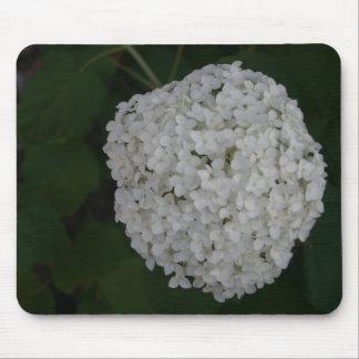 White Hydrangea bush mousepad office gift idea
