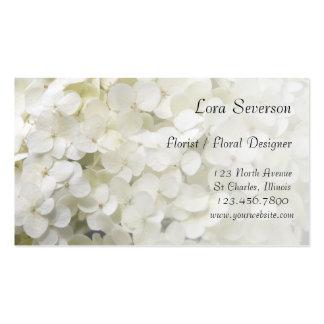 White Hydrangea Business Cards