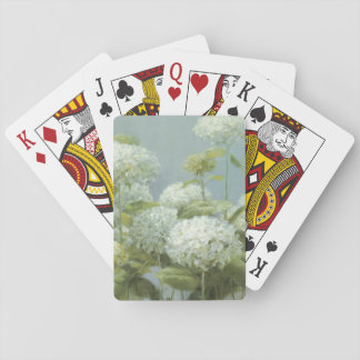 White Hydrangea Garden Playing Cards