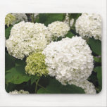 White Hydrangea Mouse Pad