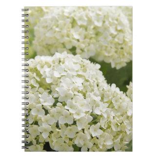 White Hydrangea Spiral Notebook