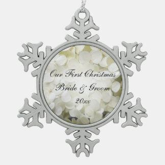 White Hydrangea Wedding Ornament