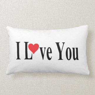 White I Love You Throw Cushions