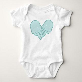 white IceCream-Ghost Baby Bodysuit