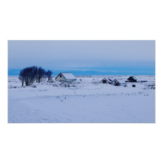 White Iceland Poster