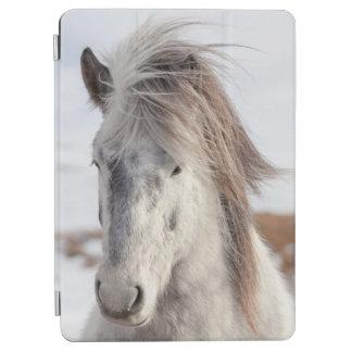 White Icelandic Horse Headshot iPad Air Cover