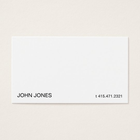 White iii business card