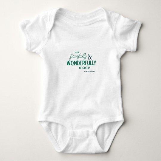 white infant t-shirt bible verse