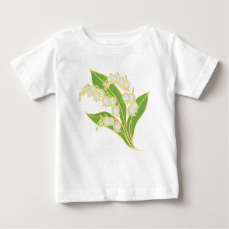 White Infant T-shirt: Lily of the Valley Baby T-Shirt